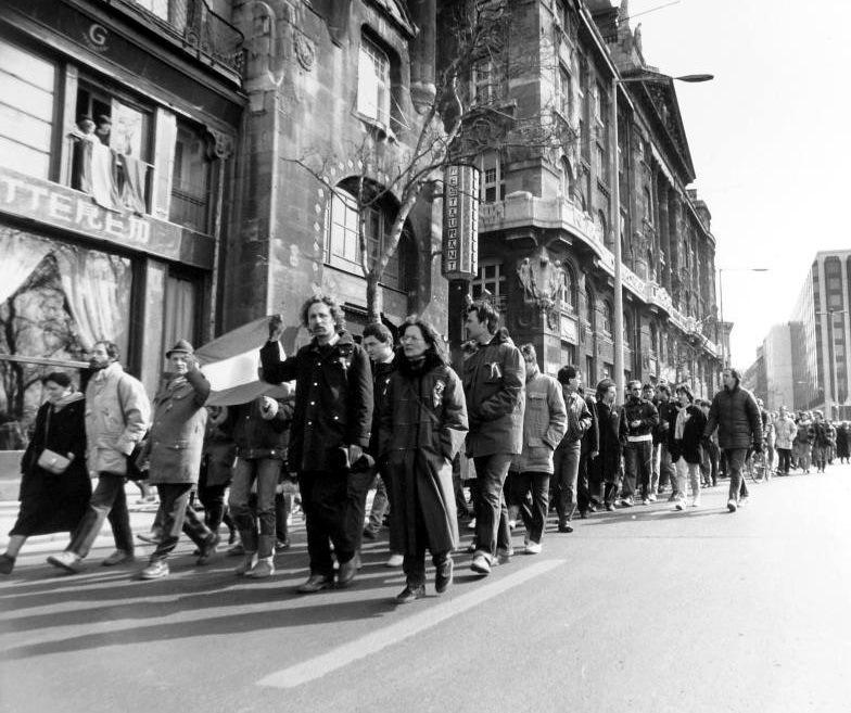 1987 marcius 15-i tuntetes, Budapest